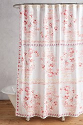 Anthropologie Tali Shower Curtain Coral