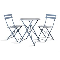 Garden Trading Rive Droite Bistro Table And Chairs Set Dorset Blue
