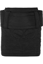 House Of Holland Belted Quilted Ripstop Mini Skirt Black