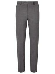 John Lewis Textured Super 100S Wool Travel Suit Trousers Light Grey