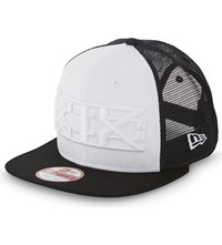 Ktz 9Fifty Mesh Snapback Cap Black White