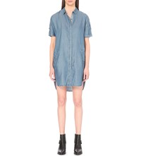 Allsaints Mel Denim Shirt Dress Light Indigo B