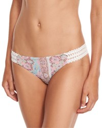 Ale By Alessandra Prairie Paisley Print California Swim Bottom Multi