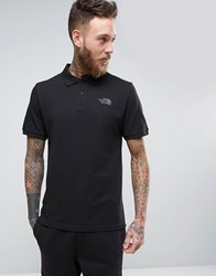 The North Face Pique Polo In Black Tnf Black