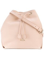 Vivienne Westwood Drawstring Bag Women Leather One Size Pink Purple