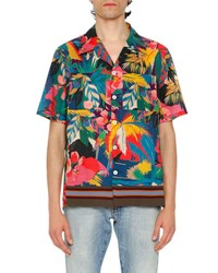 Valentino Tropical Short Sleeve Shirt Multicolor