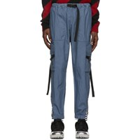 Off White Blue Parachute Cargo Pants