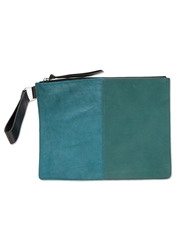 Newbark Medium Hairy Clutch Blue