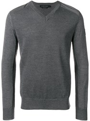 Canada Goose V Neck Sweater Grey