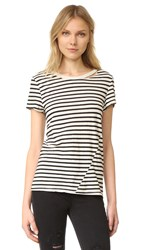 Pam And Gela S S Slash Neck Crew Tee Black Cream