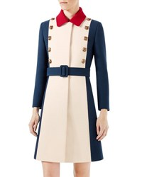 Gucci Wool A Line Coat Ivory