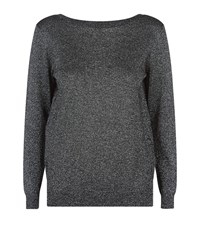 Reiss Luli Metallic Jumper Female Grey