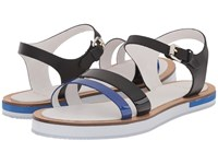 Paul Smith Itten Federal Charol Patent Blue Black Women's Sandals