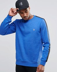 Jack And Jones Sweat With Striped Sleeve Blue