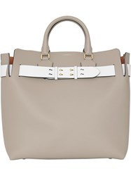 Burberry The Large Leather Belt Bag Grey