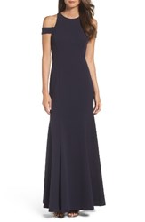 Vera Wang Women's Cold Shoulder Gown