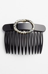 France Luxe Two Tone Buckle Hair Comb Black Black Opera Silver