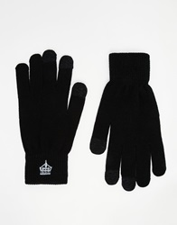 French Connection Touch Screen Gloves Black