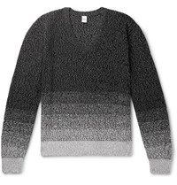 Berluti Cotton And Mulberry Silk Blend Sweater Black