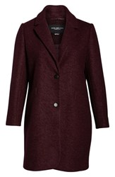 Marc New York Plus Size Paige Boucle Coat Burgundy