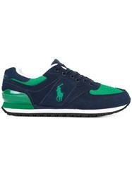 Polo Ralph Lauren Logo Embroidered Lace Up Sneakers Green