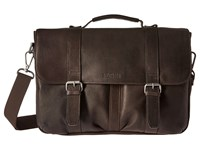 Kenneth Cole Reaction Flap Shot Leather Portfolio Brown Computer Bags
