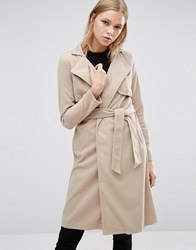 Love And Other Things Belted Duster Coat Camel Orange