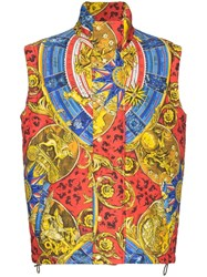 Moschino Printed Padded Gilet Multicolour