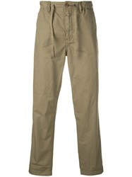 Closed Straight Leg Trousers Green