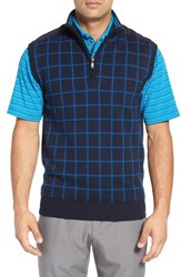 Bobby Jones Men's 'Bunker' Merino Wool Wind Sweater Vest Summer Navy