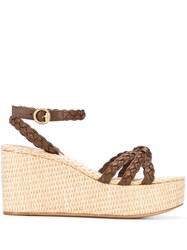 Gianvito Rossi Braided Wedged Sandals 60