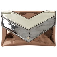Dune Berlyn Envelope Clutch Bag Bronze