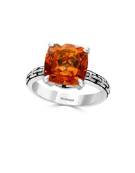 Effy Citrine And Sterling Silver Ring Orange