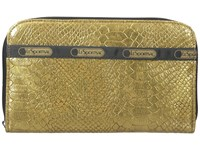 Le Sport Sac Lily Gold Snake Checkbook Wallet