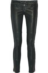 Isabel Marant Kerry Stretch Leather Skinny Pants Green