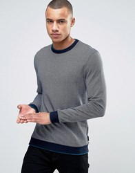 Ted Baker Ribbed Jersey Sweat Navy