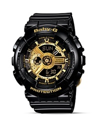 Baby G Black With Gold Tone Face Extra Large Ana Digi Watch 46.3Mm Black Gold