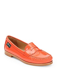 Eastland Chandler Patent Leather Penny Loafers Coral