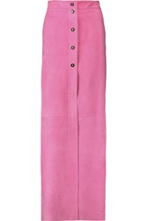 Emilio Pucci Suede Maxi Skirt Pink