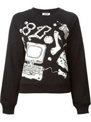 Moschino Cheap And Chic Accessories Print Sweatshirt Black