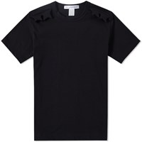 Comme Des Garcons Shirt Star Yoke Tee Black