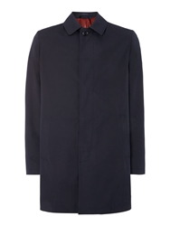 New And Lingwood Walmer Single Breasted Raincoat Navy