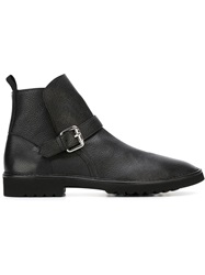 Pollini Buckle Detail Ankle Boots Black