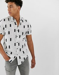 New Look Shirt With Abstract Geo Print In White