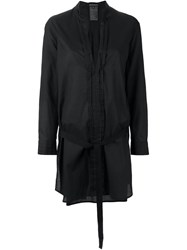 Ann Demeulemeester Blanche Belted Longsleeved Tunic Black