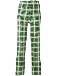Marc Jacobs Check Tailored Trousers Green