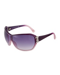 Tod's Purple Ombre Injected Shield Sunglasses Women's