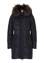 Betty And Co. Hooded Down Coat Blue