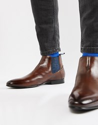 8216592fc Ted Baker Lowpez Chelsea Boots In Brown Leather