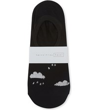 Hansel From Basel Cloudy With Rain Sock Liners Charcoal